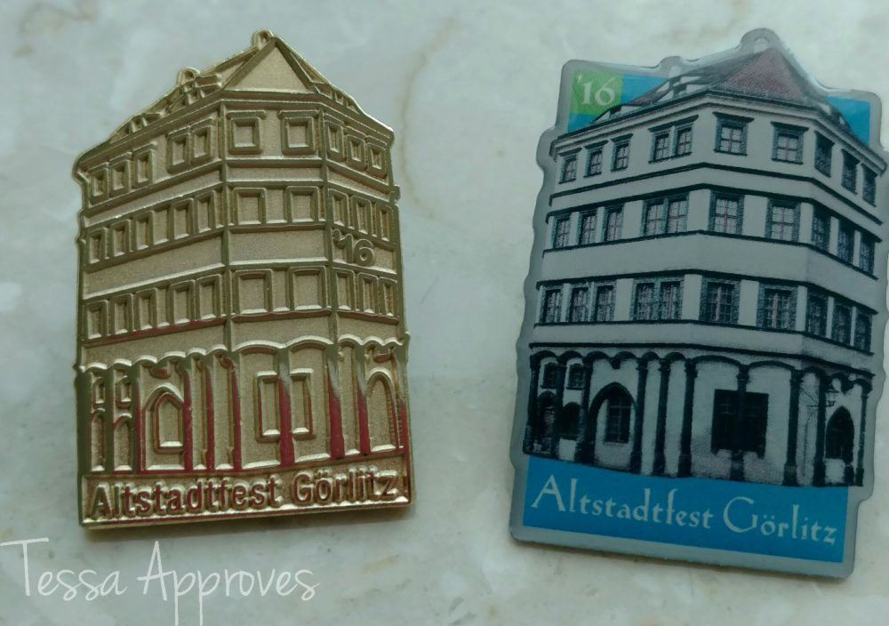 Collectible pins from the 2016 Altstadtfest