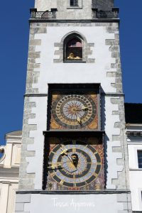 Clocks on the town hall tower Rathausturm in Görlitz
