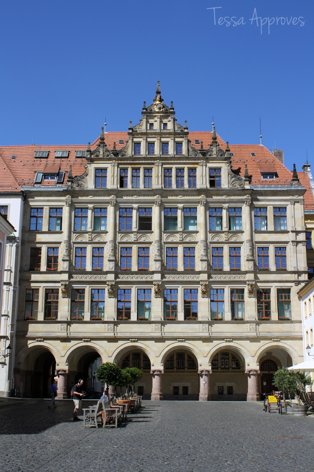 Neues Rathaus (new town hall) in Görlitz Untermarkt lower square