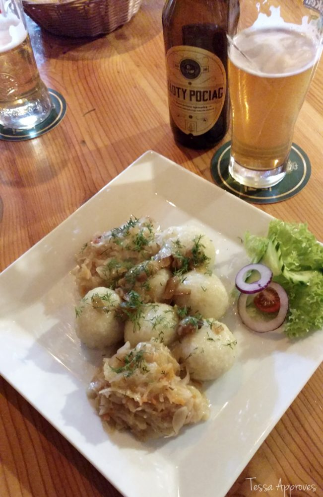 Polish food dumplings kluski