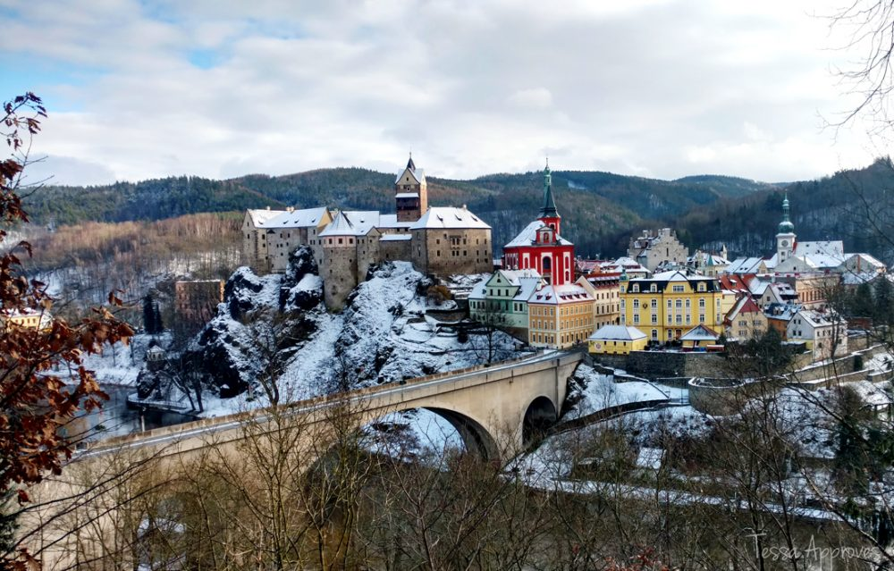 Loket Czechia old town castle bridge czech republic