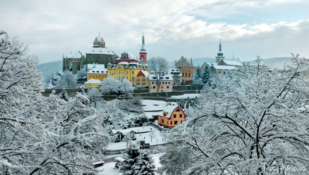 Loket Czechia in the snow