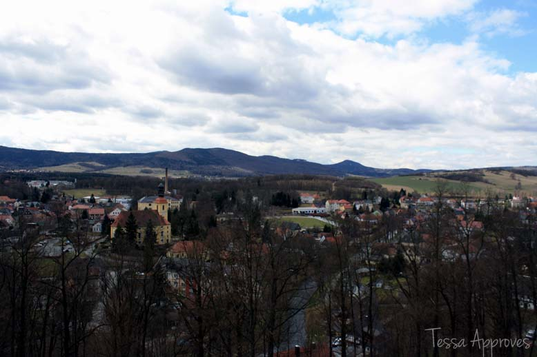 View from Hutberg of Großschönau and the Zittauer Gebirge